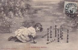 L Enfant Aux Quilles Petite Fille 1906 Bergeret Tampon Combree Maine Et Loire - Giochi, Giocattoli