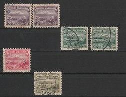 MiNr. 314, 317, 320, 321 Ecuador / 1934/1946. Freimarken: Vulkan Chimborazo. - Ecuador