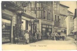 Cpa Thiviers - Rue Du Thon ( Garage Auto , Pub Spido, Pompe à Essence )      ( S 3351 ) - Thiviers