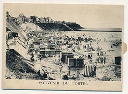 LE PORTEL - SOUVENIR DU PORTEL (carte à Système) (avec Dépliant) (C P S M) - Le Portel
