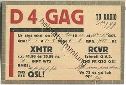 QSL - QTH - D4GAG - 1931 - Amateurfunk