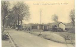 Cpa Thiviers - Gare Des Tramways Et Avenue De Limoges ( Gare, Train )      ( S 3352 ) - Thiviers
