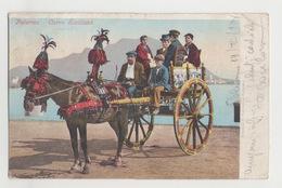 Palermo Carro Siciliano - Viaggiata 1902 #Cartolina #Costumi #Paesaggi - Palermo