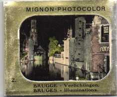 Brugge Verlichtingen Illuminations De Bruges 10 Photos Dépliants MIGNON -PHOTOCOLOR  9cmX7,50cm - Brugge
