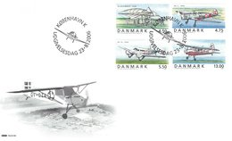Vintage Airplanes Fdc.   Denmark  # 638 # - Airplanes