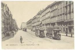 Cpa Bordeaux - Cours Du Chapeau-Rouge  ( Tramway )     ( S 3355 ) - Bordeaux