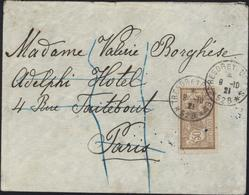 Turquie Smyrne Izmir CAD Troupe Levant 528 Trésor Et Postes 8 10 21 YT Merson N120 Brun Bleu Dos Arrivée Paris - Military Postmarks From 1900 (out Of Wars Periods)