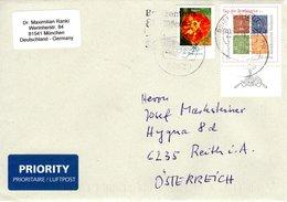 Auslands - Brief Von 80639 München Mit 90 Cent Mischfrankatur 2018 - BRD