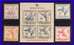 1960 - Cuba - JJOO De Roma - Yv.  - 532533 - A 212 A213HB 17 - MNH - 02 - Cuba