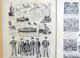 CATALOGUE DE JOUETS 1900 AU BON MARCHE AEROPLANE AUTOMATES SOLDATS PLOMB CAMIONS POUPEES 100 ARTICLES - Autres Collections