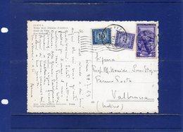 ##(DAN1811)-1953-Cartolina Illustrata Da Siena Per Valbruna (Udine) In Fermo Posta, Servizio Tassa A Carico Destinatario - 1946-.. République