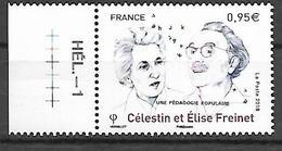 France 2018 - Yv N° 5269 ** - Célestin Et Élise Freinet - Frankreich