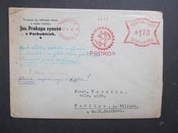 Brief Pardubice 1942 Prokop Mühle Mill Frankotype Postfreistempel // L0535 - Briefe U. Dokumente