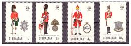 GIBILTERRA - 1971 - UNIFORMI MILITARI. 3A SERIE. SERIE COMPLETA. - MNH** - Gibilterra