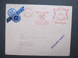 Brief Mestec Kralove Kveta Matejka  1944 Kakao The Tee  Frankotype Postfreistempel // L0536 - Briefe U. Dokumente