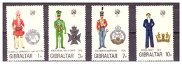 GIBILTERRA - 1972 - UNIFORMI MILITARI. 4A SERIE. SERIE COMPLETA. - MNH** - Gibilterra