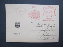 Brief Praha 1 Vzajemna Pojistovna 1944 Frankotype Postfreistempel // L0540 - Briefe U. Dokumente