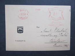 Brief Praha 1 Vzajemna Pojistovna 1942 Frankotype Postfreistempel // L0542 - Briefe U. Dokumente