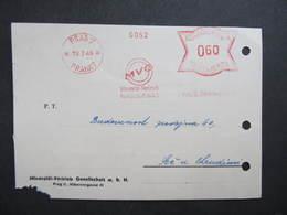 Brief Praha 7 MVG 1945 Frankotype Postfreistempel // L0544 - Briefe U. Dokumente