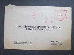Brief Zlin 1944 50.let Bata  Frankotype Postfreistempel // L0546 - Briefe U. Dokumente