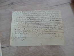 20/05/1687 Velin Autographe Martin Cie De Bissy Reçu - Documents