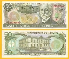 Costa Rica 50 Colones P-257a 1993 (Series E) UNC Banknote - Costa Rica