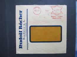 Brief Roudnice Rudolf Bächer 30.9.1939 Mitläufer B.u.M.!!!  Frankotype Postfreistempel // L0554 - Briefe U. Dokumente
