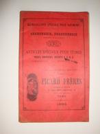 Catalogue De Serrurerie Ferronnerie Quincaillerie Spéciale Pour Le Batiment 1895 Picard Frères à Paris - Old Professions
