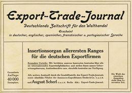 Original-Werbung/ Anzeige 1910 -  EXPORT- TRADE - JOURNAL  / SCHERL - BERLIN - Ca.180 X 130 Mm - Publicités