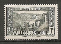ANDORRE - Yv. N° 24 *    1c     Cote 0,5  €  BE - Andorre Français