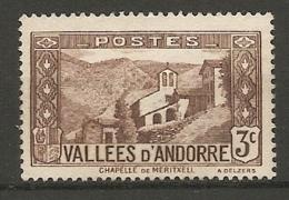 ANDORRE - Yv. N° 26   (*)    3c     Cote 1  €  BE - Neufs