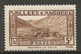 ANDORRE - Yv. N° 43   *   5f     Cote 1  €  BE - Andorre Français
