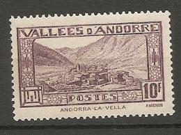ANDORRE - Yv. N° 44   *   10f     Cote 1  €  BE - Andorre Français