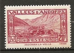 ANDORRE - Yv. N° 45   *   20f     Cote 1  €  BE - Andorre Français