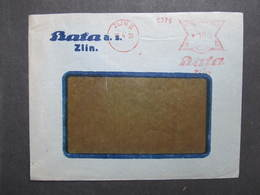 Brief Zlin Bata 15.4.1939 Mitläufer B.u.M.!!!  Frankotype Postfreistempel // L0558 - Briefe U. Dokumente