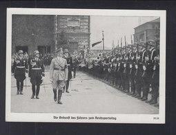 Dt. Reich AK Hitler Ankunft Zum Reichsparteitag 1939 - Personaggi Storici