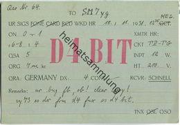 QSL - QTH - D4BIT - 1931 - Amateurfunk
