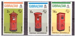 GIBILTERRA - 1974 - CENTENARIO DELL'UPU. CASSETTE POSTALI  DI EPOCHE DIVERSE.  SERIE COMPLETA. - MNH** - Gibilterra