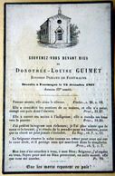 MEMORANDUM  DOROTHEE LOUISE GUIMET BARONNE DE FONTMAGNE 34 HERAULT FAIRE PART DECES - Décès