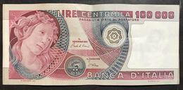100000 Lire Primavera Di Botticelli 01 07 1980 Bb+ Lotto 2066 - [ 2] 1946-… : Républic