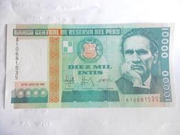 PEROU-BILLET DE 10000 INTIS-1988-UNC - Pérou