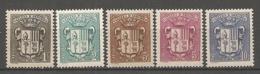 ANDORRE - Yv. N° 47 à 51   *  1c à 10c  1rmoiries    Cote 0,9  €  BE - Andorre Français