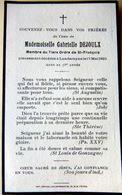 MEMORANDUM  GABRIELLE DEJOULX ORDRE DE SAINT FRANCOIS 18 CHER  FAIRE PART DECES - Décès