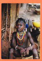 Af118 Ethnic Afrique Enfant Colliers Traditionnels 1980s IRIS - Postcards