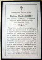 MEMORANDUM  SOUVENIR MADAME CHARLES GOBERT NEE TEISSEIRE  SUISSE  FAIRE PART DECES - Décès