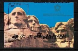 "EQUATORIAL GUINEA  Scott # UNLISTED 1976 ""ERROR---MISPRINT"" MT. RUSHMORE ** VF MINT NH SOUVENIR SHEET  LG-852 - Equatorial Guinea"