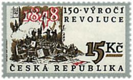 Ref. 35324 * NEW *  - CZECH REPUBLIC . 1998. 150th ANNIVERSARY OF THE REVOLUTION. 150 ANIVERSARIO DE LA REVOLUCION - República Checa