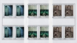 Czech Republic - 2018 - Works Of Art On Postage Stamps - Libenský, Komarek, Pontius - Mint Miniature Stamp Sheets Set - Czech Republic