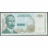 TWN - BOSNIA-HERZEGOVINA 157a - 100000000 100.000.000 Dinara 1993 Prefix A UNC - Bosnie-Herzegovine