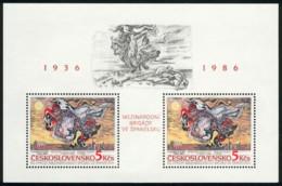 Ref. 115243 * NEW *  - CZECHOSLOVAKIA . 1986. 50 ANIVERSARIO DE LAS BRIGADAS INTERNACIONALES EN ESPA�A - Czechoslovakia